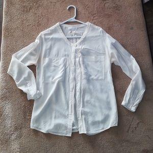 Everlane pocket silk shirt